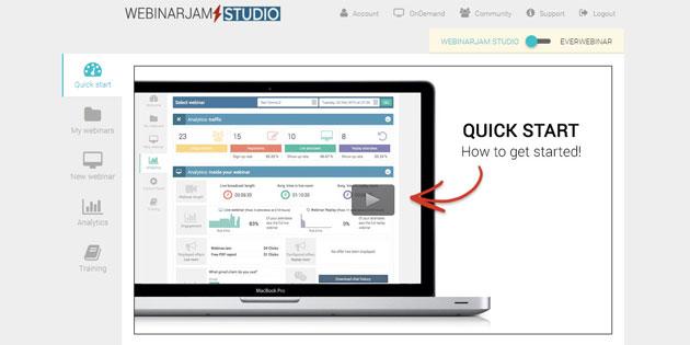 Startseite WebinarJam
