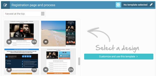 Webinarjam Design für Anmeldung