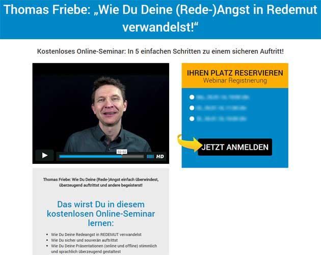 Webinar von Sprecher Thomas Friebe
